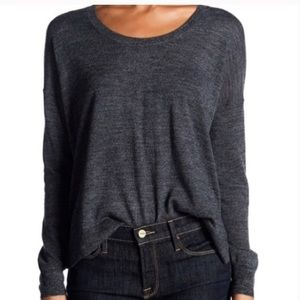 Madewell Long Sleeve Merino Wool Pullover Gray